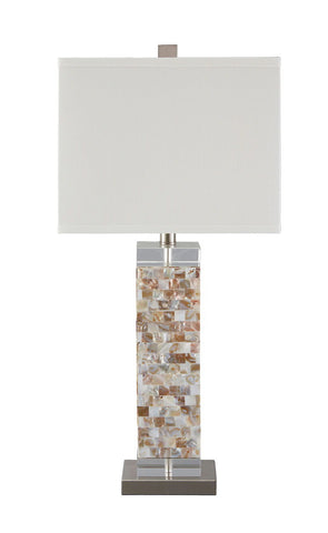 Shop Ashley Furniture Tahira Cream Shell Table Lamp (1/CN) at Mealey's Furniture