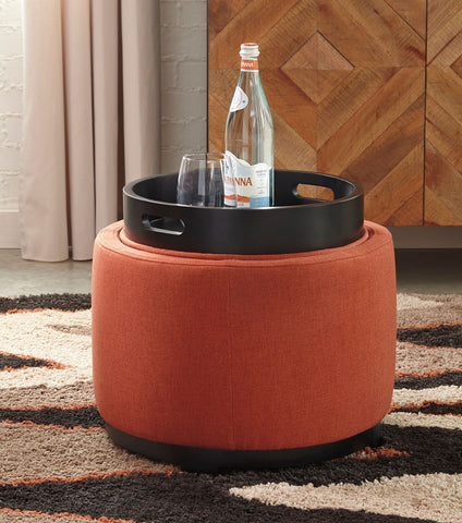 Menga Adobe Ottoman With Storage