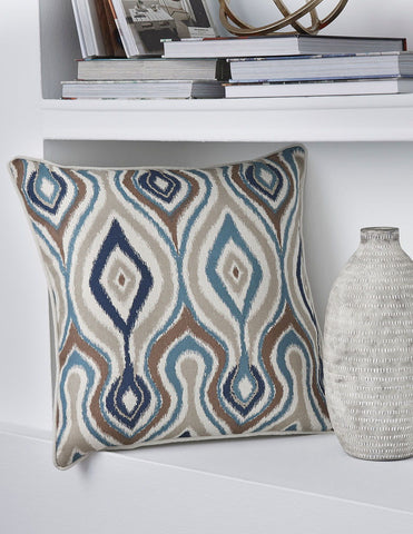 Shop Ashley Furniture Russell- Brown/Blue Pillow at Mealey's Furniture