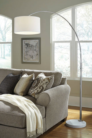 Shop Ashley Furniture Areclia Chrome Finish Metal Arc Lamp (1/CN) at Mealey's Furniture