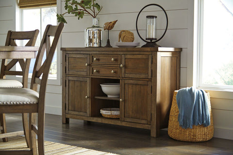 Shop Ashley Furniture Moriville Dining Room Server at Mealey's Furniture