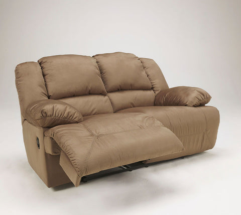 Shop Ashley Furniture Hogan Mocha Rec Loveseat at Mealey's Furniture
