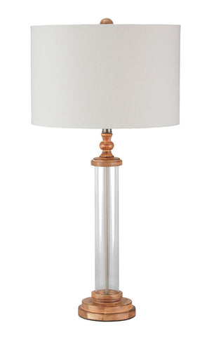 Shop Ashley Furniture Tabby Clear/Natural Glass Table Lamp (1/CN) at Mealey's Furniture