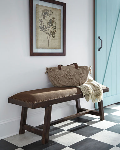 Shop Ashley Furniture Aduardo Brown Accent Bench at Mealey's Furniture