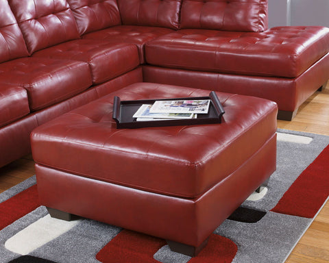 Shop Ashley Furniture Alliston Dura Blend Salsa Oversized Accent Ottoman at Mealey's Furniture
