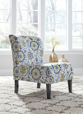 Triptis Blue Green Accent Chair Mealey S Furniture