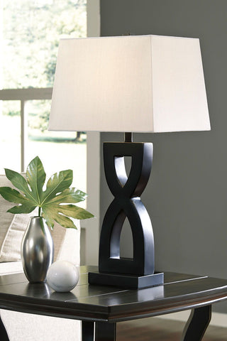 Shop Ashley Furniture Amasai Black Poly Table Lamp (2/CN) at Mealey's Furniture