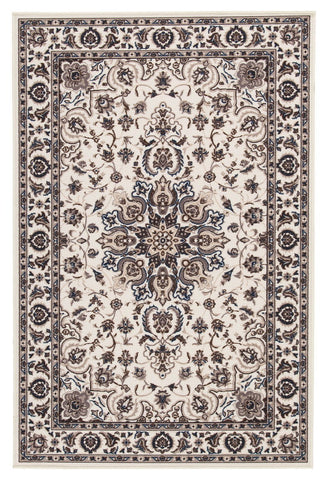 Shop Ashley Furniture Monia Ivory/Navy Medium Rug at Mealey's Furniture