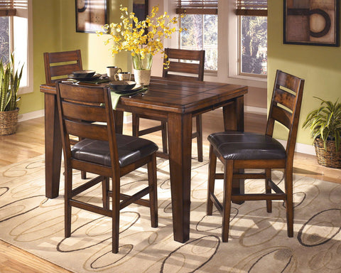 Shop Ashley Furniture Larchmont Butterfly Leaf Pub Table at Mealey's Furniture