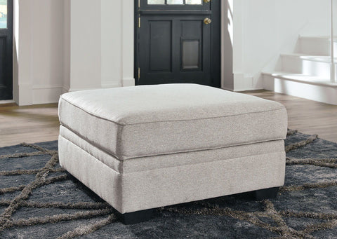Shop Ashley Furniture Dellara Chalk Ottoman With Storage at Mealey's Furniture