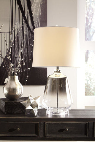 Shop Ashley Furniture Jaslyn Silver Finish Glass Table Lamp (1/CN) at Mealey's Furniture
