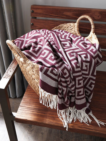 Shop Ashley Furniture Anitra Plum Throw at Mealey's Furniture