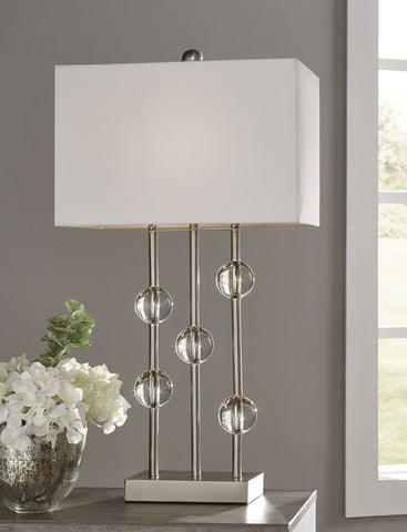 Shop Ashley Furniture Jaala Clear/Silver Finish Metal Lamp (1/CN) at Mealey's Furniture
