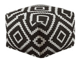 Shop Ashley Geometric Black Pouf at Mealey's Furniture