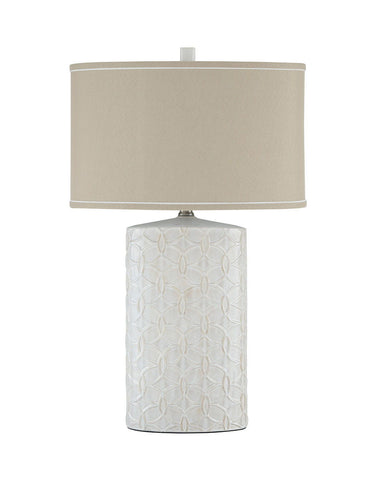 Shop Ashley Furniture Shelvia Antique White Ceramic Table Lamp (1/CN) at Mealey's Furniture