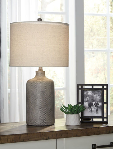 Shop Ashley Furniture Linus- Antique Black Ceramic Table Lamp (1/CN) at Mealey's Furniture
