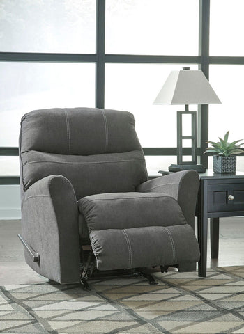 Shop Ashley Furniture Maier Charcoal Rocker Recliner at Mealey's Furniture