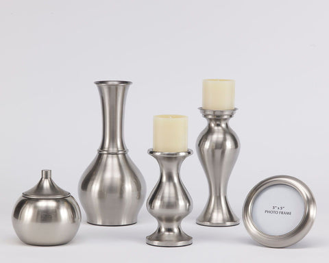 Shop Ashley Furniture Rishona Brushed Silver Finish Accessory Set (5/CN) at Mealey's Furniture