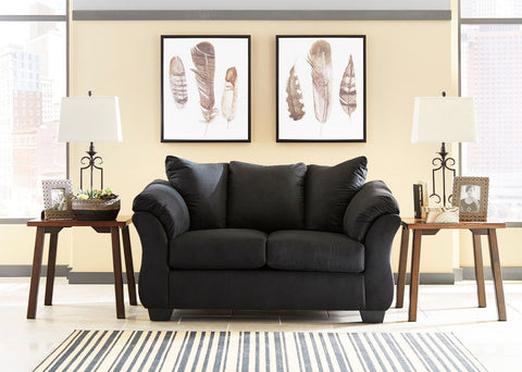 Shop Ashley Furniture Darcy Black Loveseat at Mealey's Furniture