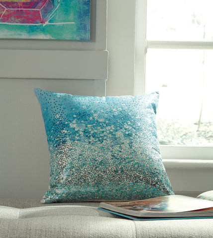 Shop Ashley Furniture Meilani Blue Pillow at Mealey's Furniture