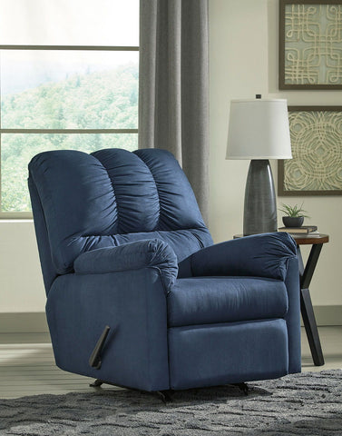 Shop Ashley Furniture Darcy Blue Rocker Recliner at Mealey's Furniture