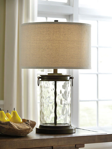 Shop Ashley Furniture Tailynn Clear/Bronze Finish Glass Table Lamp (1/CN) at Mealey's Furniture