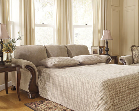Shop Ashley Furniture Lanett Barley Queen Sofa Sleeper at Mealey's Furniture