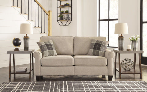 Shop Ashley Furniture Lingen Fossil Loveseat at Mealey's Furniture