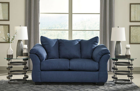 Shop Ashley Furniture Darcy Blue Loveseat at Mealey's Furniture