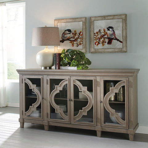 Shop Ashley Furniture Fossil Ridge Gray Door Accent Cabinet at Mealey's Furniture