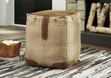 Shop Ashley Furniture Cinnamon Natural Pouf at Mealey's Furniture