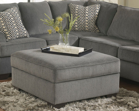 Shop Ashley Furniture Loric Smoke Ottoman With Storage at Mealey's Furniture