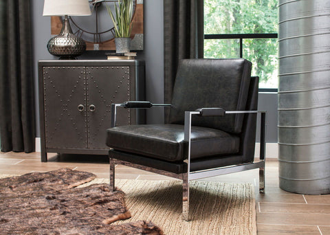 Shop Ashley Furniture Network Black Accent Chair at Mealey's Furniture