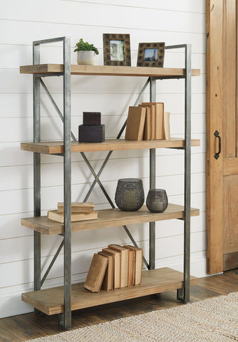 Shop Ashley Furniture Forestmin Brown/Black Shelf at Mealey's Furniture