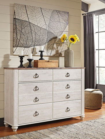 Shop Ashley Furniture Willowton Whitewash Dresser at Mealey's Furniture