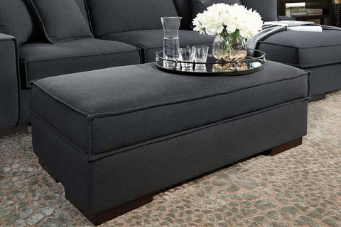 Shop Ashley Furniture Gamaliel Charcoal Ottoman With Storage at Mealey's Furniture