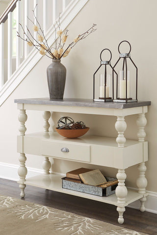 Shop Ashley Furniture Fossil Ridge Console Sofa Table at Mealey's Furniture
