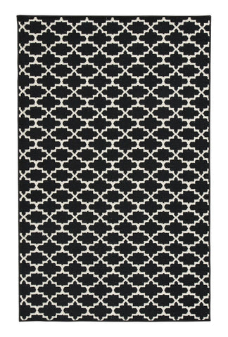 Shop Ashley Furniture Nathanael Black/Cream Large Rug at Mealey's Furniture