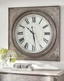 Shop Ashley Furniture Pelham Antique Silver Finish Wall Clock at Mealey's Furniture
