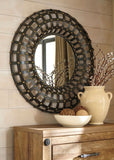 Ogier Brown/Gold Finish Accent Mirror
