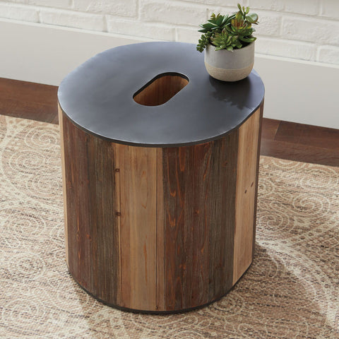Shop Ashley Furniture Highmender Brown/Black Accent Table at Mealey's Furniture