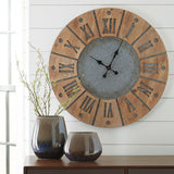 Shop Ashley Furniture Payson- Antique Gray/Natural Wall Clock at Mealey's Furniture
