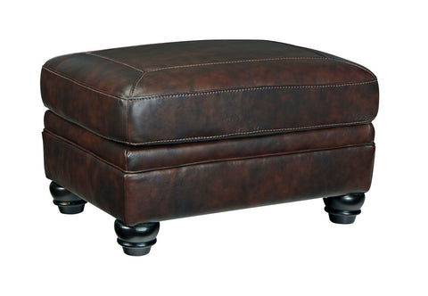 Shop Ashley Furniture Bristan Walnut Ottoman at Mealey's Furniture