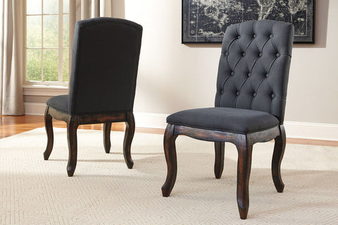 Shop Ashley Furniture Trudell Dark Brown Dining Uph Side Chair at Mealey's Furniture
