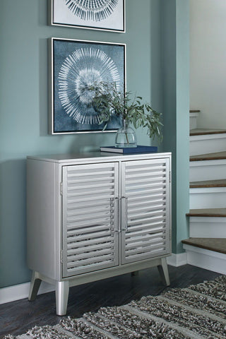 Shop Ashley Furniture Senzernell Silver Accent Cabinet at Mealey's Furniture