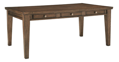 Shop Ashley Furniture Flynnter Medium Brown Rectangular Dining Room Table at Mealey's Furniture