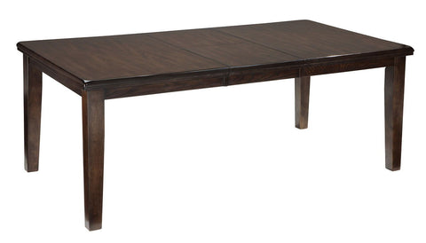 Shop Ashley Furniture Haddigan Dark Brown Rect Dining Room Ext Table at Mealey's Furniture