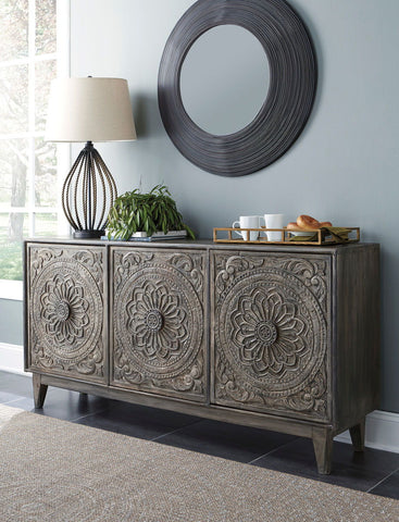 Shop Ashley Furniture Fair Ridge Dark Brown Console at Mealey's Furniture