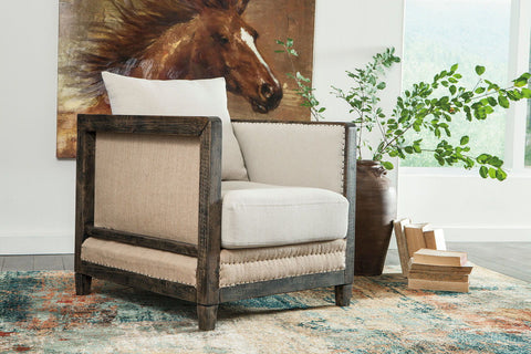 Shop Ashley Furniture Copeland Linen Accent Chair at Mealey's Furniture