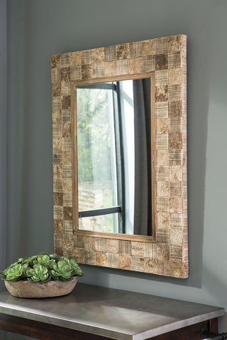 Shop Ashley Furniture Ivanna Brown Accent Mirror at Mealey's Furniture